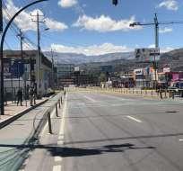 La policía acordonó las vías aledañas. Foto: Secretaría de Seguridad Quito