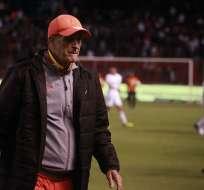 El entrenador argentino llegó al Aucas en diciembre del 2017. Foto: API