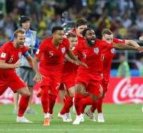 Jugadores de la selección inglesa durante el Mundial Rusia 2018. Foto: AP.