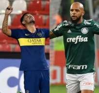 Boca Juniors y Palmeiras sellaron sus pases a cuartos de final de la Libertadores. Foto: AFP