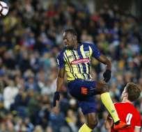 El jamaiquino ingresó al minuto 72 de partido con el número 95 en la espalda. Foto: AP Foto/Steve Christo