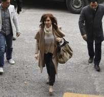 ARGENTINA.- En la declaración que entregó al juzgado, la senadora reiteró que no ha cometido ningún delito. Foto: AFP