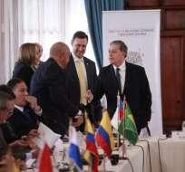 Representantes de doce países de América Latina debaten en Quito. Foto: API
