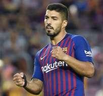 BARCELONA, España.- Suárez durante el partido contra el Huesca el pasado 2 de septiembre. Foto: AFP