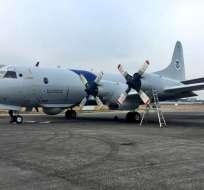 La llegada de la aeronave es parte de acuerdo de seguridad entre Ecuador y Estados Unidos. Foto: @AeromundoAvGeek