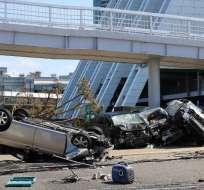 La región de Osaka ha sido la más afectada con numerosos edificios dañados. Foto: AFP