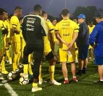 La 'Tricolor' entrena en Estados Unidos para los amistosos que jugará en ese país. Foto: @FEFecuador