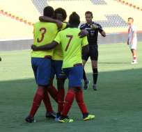 El partido se jugó en el estadio Monumental de Guayaquil. Foto: Tomada de @FEFecuador