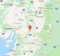 Instituto Geofísico informó que movimiento telúrico tuvo epicentro en Cumandá, Chimborazo. Foto: Twitter Geofísico.