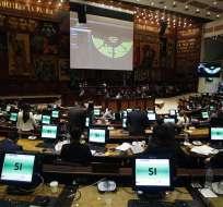QUITO, Ecuador.- El pleno aprobó la resolución del CAL que garantiza derechos laborales a denunciantes. Foto: API