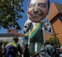 El atentado sacudió la campaña y movilizó a fondo a los seguidores de Bolsonaro. Foto: AFP