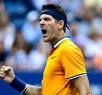 El argentino se enfrentará ante Kei nishikori o Novak Djokovic. Foto: Sarah Stier / GETTY IMAGES NORTH AMERICA / AFP
