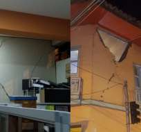 """Gestión de Riesgos reporta """"daños leves a moderados"""" en casas y deslizamientos en vías. Foto: Cortesía"""