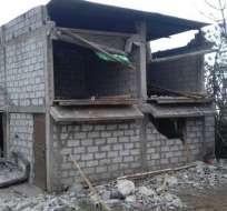 Más de 200 casas entre afectadas y destruidas dejó el movimiento telúrico. Fotos: Secretaría de Control de Riesgos