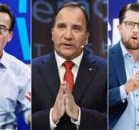 Los tres partidos mejor colocados en las encuestas son los socialdemócratas, el Partido Moderado y los Demócratas de Suecia.