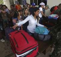 Venezolanos en un control fronterizo de la ciudad de Pacaraima, Brasil. Foto: AP