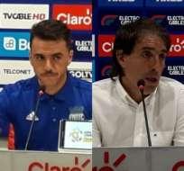 GUAYAQUIL, Ecuador.- Ambos entrenadores conversaron con la prensa luego del Clásico del Astillero. Foto: Radio Atalaya