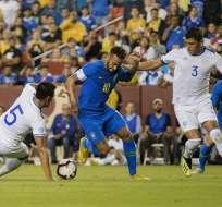 LANDOVER, EE.UU.- Neymar abrió el marcador al minuto 4 con un gol de penal. Foto: AFP