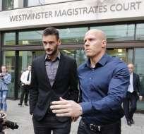 LONDRES, Reino Unido.- Hugo Lloris a su salida de la Corte de Westminster tras recibir su sentencia. Foto: AFP