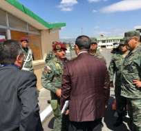 ECUADOR.- La pericia se desarrolló de forma reservada en la brigada Patria, donde se prepara el GEO. Foto: Cortesía