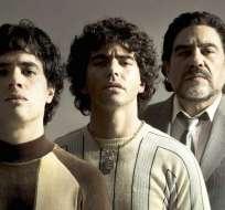 Nicolás Goldschmidt, Nazareno Casero y Juan Palomino interpretarán a Maradona. Foto: Amazon Prime
