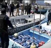 La Armada ha decomisado más de 30 mil galones de gasolina en la frontera norte. Foto: Captura.