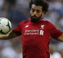 LONDRES, Inglaterra.- Mohamed Salah fue titular en este partido. Foto: AFP
