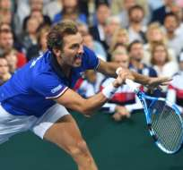 VILLENEUVE-D'ASCQ, Francia.- Julien Benneteau disputará la final del 23 al 25 de noviembre. Foto: AFP