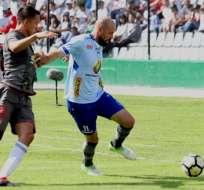 AMBATO, Ecuador.- El futbolista argentino, Juan Manuel Tévez sentenció la victoria del Macará en su reducto. Foto: API