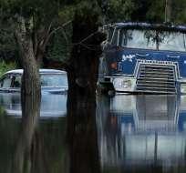 El huracán Florence se ha debilitado a una depresión tropical. Foto: AFP