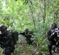Comandante militar colombiano dice que persecución se mantiene de manera indefinida. Foto: Flickr Ejército Colombia