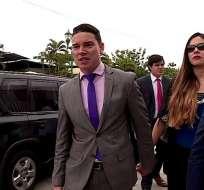 GUAYAQUIL, Ecuador.- Juez ratificó medidas sustitutivas para el exministro acusado de lavado de activos. Foto: Captura.