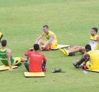 Béder Caicedo y Oswaldo Minda no podrán ser tomados en cuenta por lesión. Foto: API