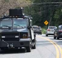 Varios muertos y heridos en un tiroteo en Maryland, EEUU. Foto: AFP