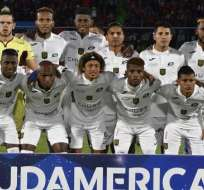 Deportivo Cuenca juega por primera vez los octavos de final de una Copa Sudamericana. Foto: AFP