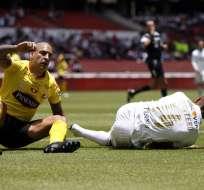 Los 'amarillos' empataron 0-0 con Liga de Quito en el estadio Rodrigo Paz Delgado. Foto: API