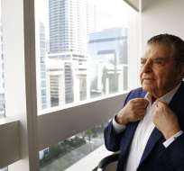 Don Francisco durante una entrevista en sus oficinas en el área de Brickell, en Miami. Foto: AP.