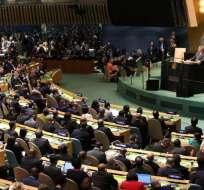 Moreno en la Asamblea General de la ONU, la mayor reunión diplomática del mundo. Foto: Comunicación Ec