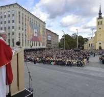 Muchos jóvenes participantes en el encuentro se presentaron como no creyentes. Foto: AFP