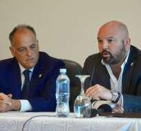 El presidente de la Liga Profesional habló con los medios de comunicación. Foto: API