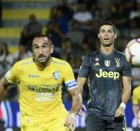 FROSINONE, Italia.- Esta fue la primera vez que CR7 es expulsado de un partido de la Champions. Foto: AFP