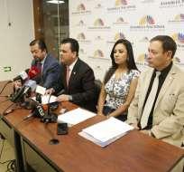 QUITO, Ecuador.- Esteban Bernal pide que se investigue el accionar de Sofía Espín. Foto: API