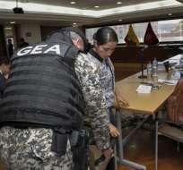"ECUADOR.- Según ministerio de Justicia, la asambleísta Sofía Espín ""burló los controles"" en visita a Diana Falcón. Foto: API"