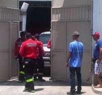 MANTA, Ecuador.- En la explosión resultó herido un ecuatoriano de 22 años. Foto: Captura Video.