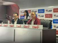 El dirigente de Liga de Quito le respondió al presidente de Barcelona y Almada. Foto: Tomada de @LDU_Oficial