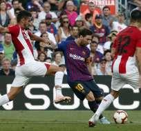 BARCELONA, España.- Lionel Messi entró de suplente al minuto 55 por Arturo Vidal. Foto: AFP