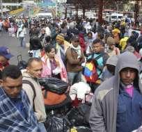 Unas 5.000 personas abandonan Venezuela cada día actualmente. Foto: AFP