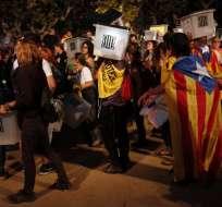 Independentistas catalanes divididos en aniversario del referéndum. Foto: AFP