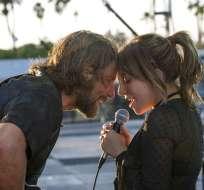 """En esta imagen difundida por Warner Bros., Bradley Cooper y Lady Gaga en una escena de """"A Star is Born"""". Foto: AP"""