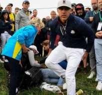 Remande comentó que le restó importancia al incidente para no desconcentrar al golfista.